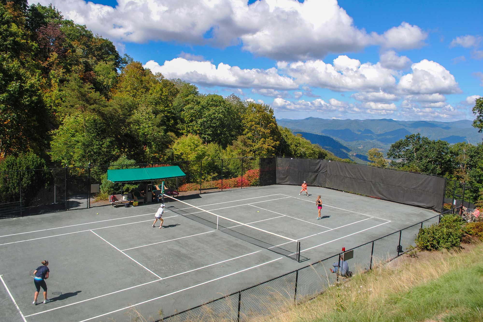 scenic view at mountain air country club tennis court