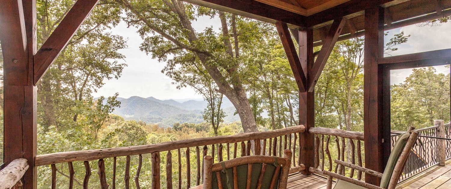 porch with mountain view at mountain air